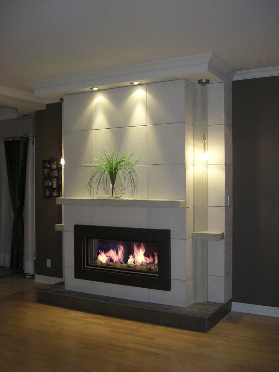 Fini Plus Mantels Wall Covering Wall Shelves Decoration # Mur Avec Foyer Et Tv