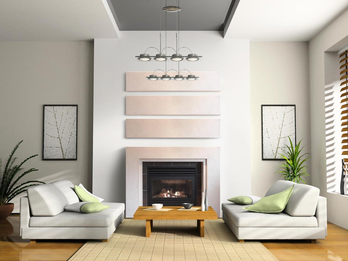 Zen Foyer Design : Fini plus manteaux de foyer et poêle mur pierre