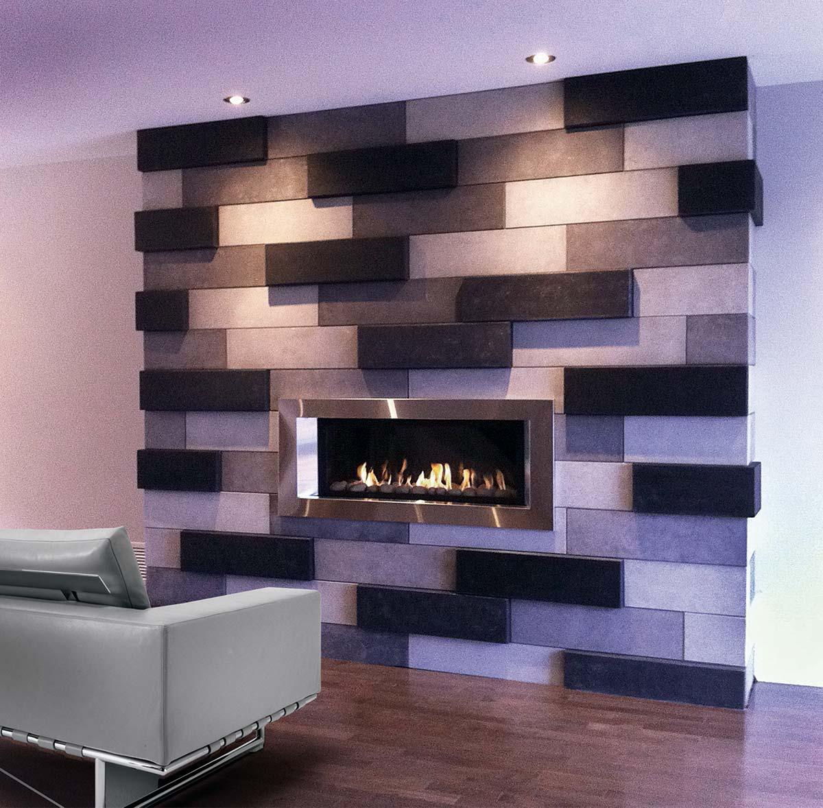 fini plus manteaux de foyer et po le mur de pierre tablettes d cors. Black Bedroom Furniture Sets. Home Design Ideas