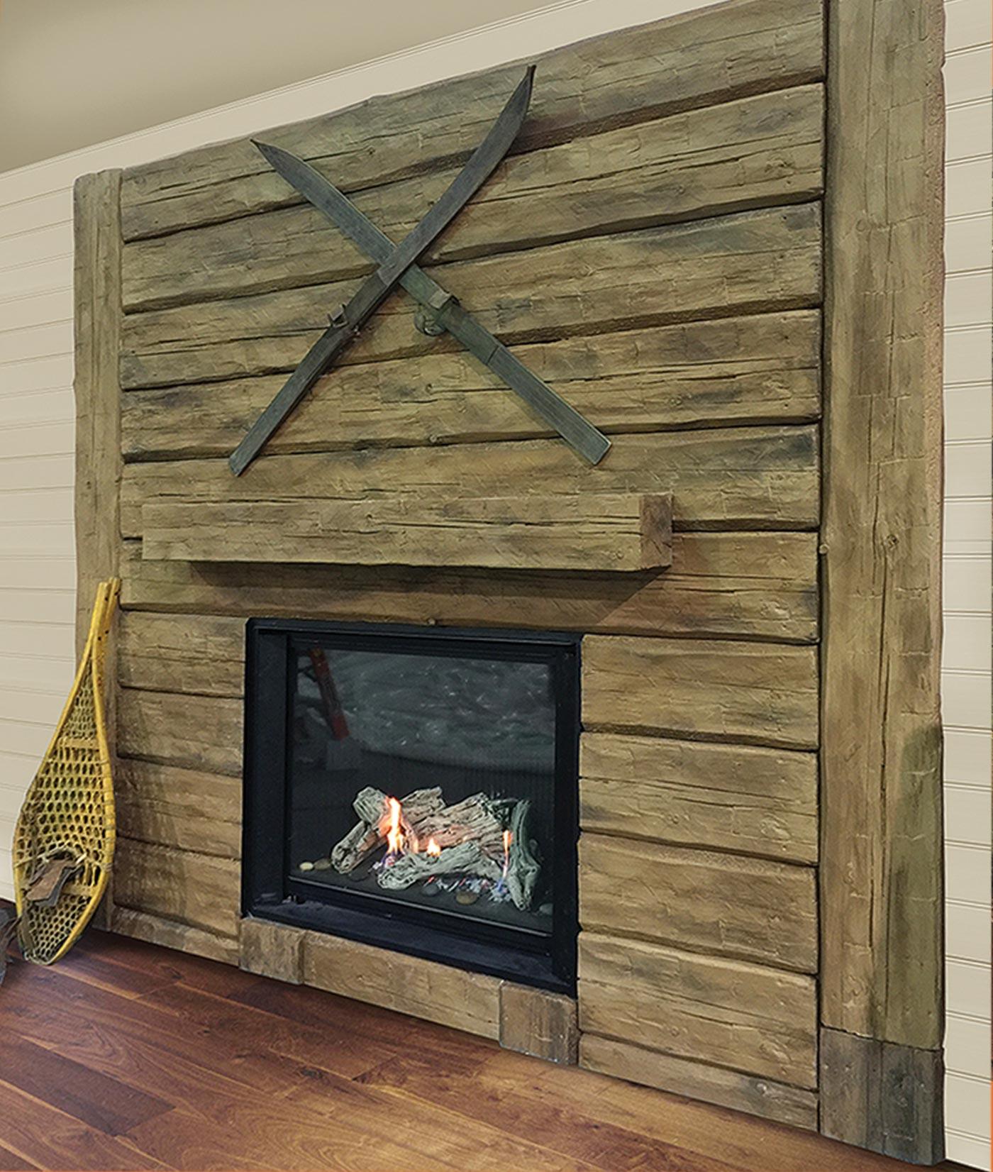 fini plus manteaux de foyer et po le mur de pierre. Black Bedroom Furniture Sets. Home Design Ideas